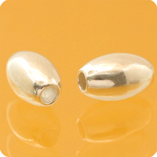 Oval Silverbeads