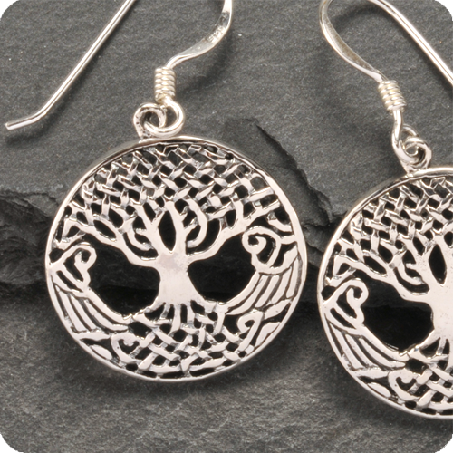 Baum des Lebens Ohrringe Silber 925