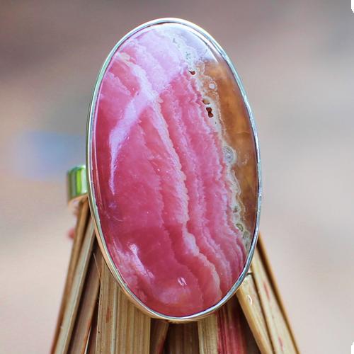 Rhodochrosit Silberring