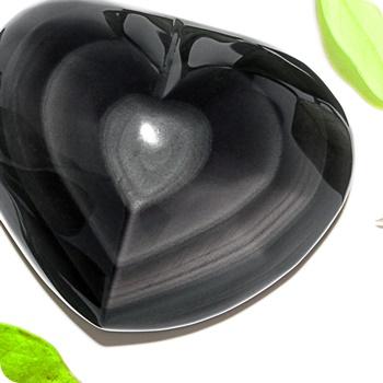 Edelsteinherz Regenbogen Obsidian Unikate