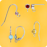 Ear Hooks Silver 925 with gemstone