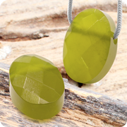 Gemstone pendant oval faceted