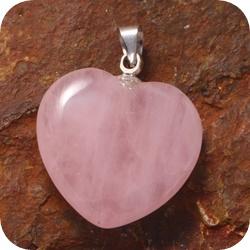 Rosequartz heart pendant