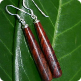 Earrings with Rose Wood