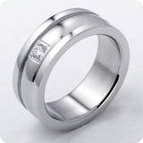 Stainless steel rings stone