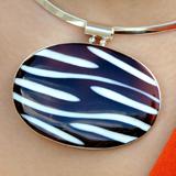 Zebra-Muschel Silber-Anhänger