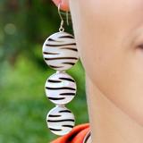 Zebra-Muschel Silber-Ohrschmuck