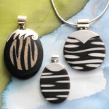 Zebra-Muschel Anhänger Sets