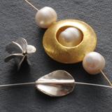 Silberperlen Handgefertigt