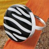 Zebra-Muschel Silberringe