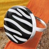 Ringe mit Zebra Muschel