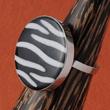 Ringe mit Zebra Muscheln