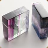 Fluorit Quadrate & Scheiben