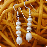 Earrings with Perls