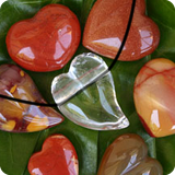 Gemstones heart-shaped