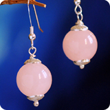 Gemstone round Ball Earrings