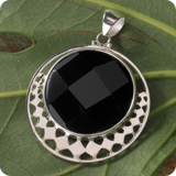 Silberschmuck Schwarze Steine