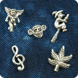 Silver Earring with Motiv