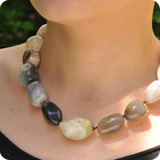 Necklace Tumbled Gemstone