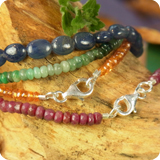 Gemstone Bracelets Silver Clasp