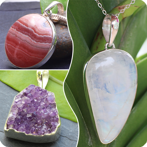 Silver Gemstone Pendants