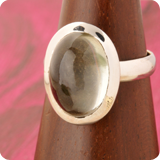 Smoky Quartz Silver Rings