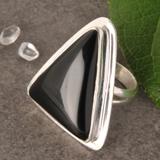 Onyx Silberring