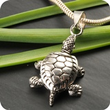 Schildkröte Silberanhänger 925