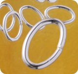 Oval Open Jump Rings Silver
