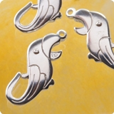 Animal Clasps sterling silver 925 for children