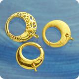Ring Verschluss vergoldet