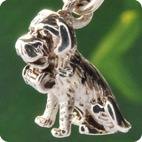 Hund Silber Anhänger
