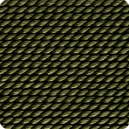 Khaki Naturseide, Perlenzubehör