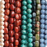 Gemstone Beads and semi-precious stone beads.