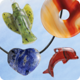 Gems Pendants with semi-precious stones