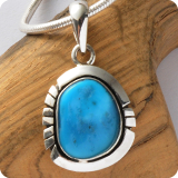 Silver Jewelry Pendant with gemstones