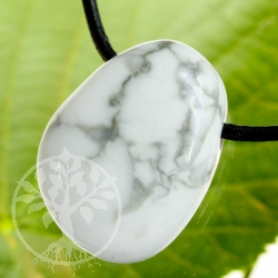 Magnesite Pendant /* Howlite Pendant with hole 20/25