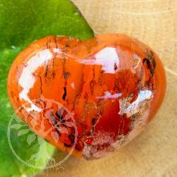 Heart Handsstone Red Jasper Stone A