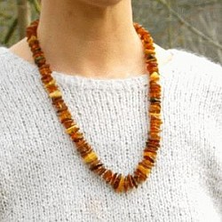 Amber necklace Basic multicolor