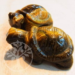 Tigereye Turtle Carving 40mm