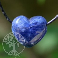 Sodalite heart pendant Belly 20mm