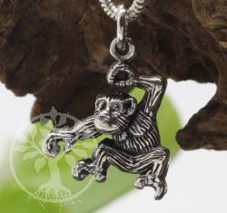 Affe Anhaenger aus echt Silber 925