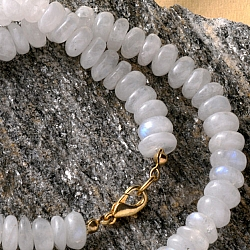 Moonstone rainbow moonstone necklace