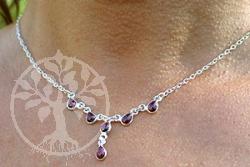 Granat Collier Silber 925 5  Marseille mit Silberkette