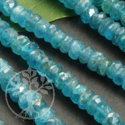Apatite Necklace facetted 4/5mm silver925 clasp