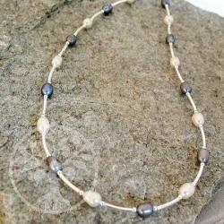 Perlen-Silber-Collier