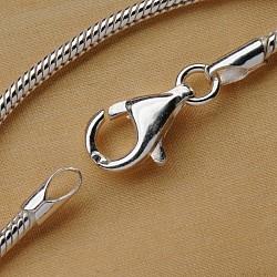 Silberkette 60cm Schlangenkette 1.6mm Silber 925