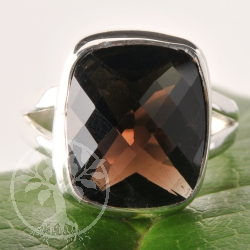 Silver Ring Smoky Quartz