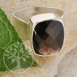 Smoky Quartz Ring Silver