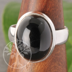 Smoky Quartz Silver Ring nr9